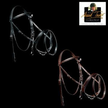 Mark Todd Performance Patent Piped Flash Bridle